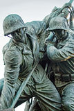 Iwogima-Flaggen-Soldat-Front Lizenzfreie Stockfotos
