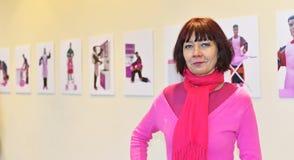 Iwona Demko艺术家和sculpter 免版税图库摄影