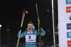 IX faza końcowa Biathlon puchar świata IBU BMW 24 03 2018 Obrazy Stock