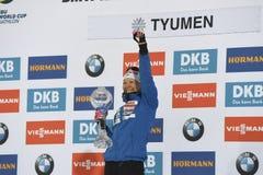 IX faza końcowa Biathlon puchar świata IBU BMW 24 03 2018 Fotografia Stock