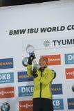 IX faza końcowa Biathlon puchar świata IBU BMW 24 03 2018 Fotografia Royalty Free