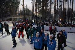 IX faza końcowa Biathlon puchar świata IBU BMW 24 03 2018 Zdjęcie Royalty Free