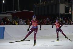 IX faza końcowa Biathlon puchar świata IBU BMW 24 03 2018 Zdjęcia Royalty Free