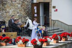 IX Festival Casimir Castle Knights feast Stock Photos