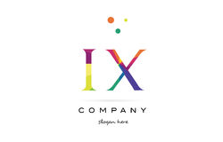 ix i x creative rainbow colors alphabet letter logo icon vector illustration