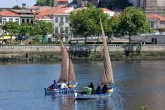 IX Meeting of Traditional Boats of Vila do Conde. Stock Images