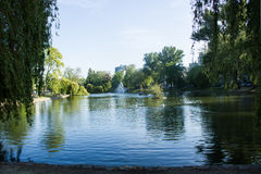 Ixelles ponds (d'Ixelles taings ‰ Ã), Брюссель, Бельгия Стоковое Изображение