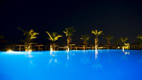 Ixia Grand Hotel Pool in evening light stock image