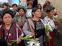 Ixil kvinnor Arkivbild