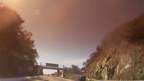 Ixtapa的高速公路可喜的迹象墨西哥 股票录像