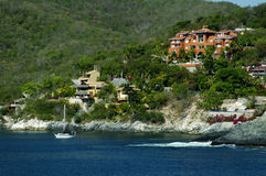 Ixtapa Häuser Stockfoto
