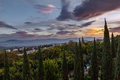 Ixtapan De Los angeles Sal Zmierzch Zdjęcie Stock