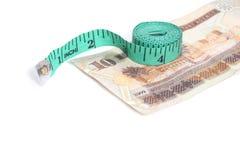 Iyal och måttband - arabiska pengar Royaltyfria Bilder