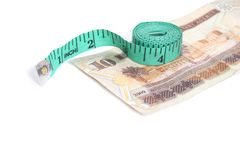 Iyal and tape measure - Arabic Money Royalty Free Stock Images