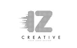 IZ我Z与黑小点和足迹的信件商标 库存图片