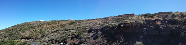 Izaña. Astrologer observatory, in the natural park of the Canadas del Teide stock photo