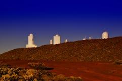 Iza�a sunset, El Teide, Tenerife. Observatoire Astronomique El Teide, Tenerife royalty free stock photography