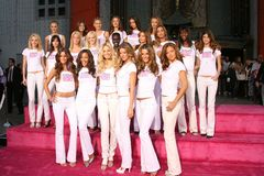 Giselle, Victoria's Secret, Selita Ebanks, Giselle Bundchen, Adriana Lima, Alejandra Ambrosio, Karolina Kurkova, Gisele, Gisele Bu Foto de archivo