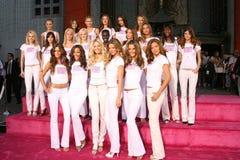 Giselle Victorias hemlighet, Selita Ebanks, Giselle Bundchen, Adriana Lima, Alessandra Ambrosio, Karolina Kurkova, Gisele, Gisele  arkivfoto