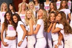 Adriana Lima,Alessandra Ambrosio,Karolina Kurkova,Gisele,Gisele Bundchen,Izabel Goulart,Victoria's Secret,Selita Ebanks,Giselle Bu Stock Photography