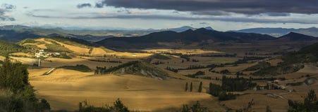 Izagaondoa Valley. Landscape sunset from Midi D'Ossau Pyrenees. France Izagaondoa Spain Navarra Stock Photo