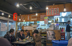 Izakaya, een Japanse stijlbar royalty-vrije stock fotografie