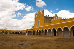 Izamal convent. In mexico on yucatan peninsula Royalty Free Stock Image