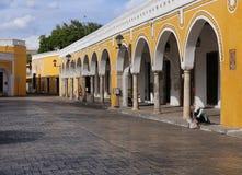 Izamal een Koloniaal dorp in Yucatan Mexico, 2015 royalty-vrije stock fotografie
