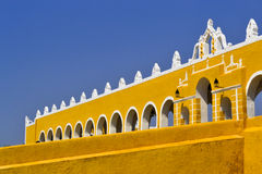 Izamal. Is literally a yellow town, every building and house is painted in yellow.This convent received the name of San Antonio de Padua. Great for a walk Stock Image