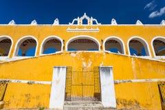 Izamal, Mexico. San Antonio convent stock photo
