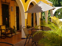 Izamal Mexico Yucatan church yellow City monastery convent Stock Photography