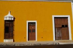 Izamal Mexico Yucatan church yellow City monastery convent Stock Photos