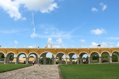 Izamal village in Yucatan. stock images