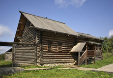 Izba (σπίτι) Kudymov σε Khokhlovka Perm Krai Ρωσία Στοκ Εικόνα