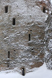 Izborsk fästning nära Pskov, Ryssland Rysk vinter Fotografering för Bildbyråer