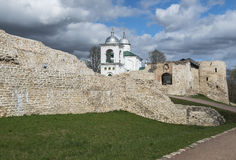 The Izborsk Fortress. Stock Photos