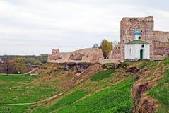 Izborsk fortress Stock Photo