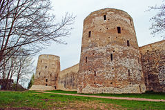 Izborsk fortress Stock Photography