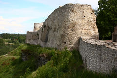 Izborsk fortress. A wall. Royalty Free Stock Photos