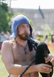 IZBORSK, RUSSIA - AUGUST 6: Unidentified musicians Stock Image