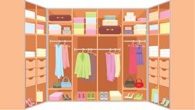 izbowa garderoba ilustracji