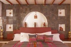 Izbowy interier w tradycyjnym hotelu w Chivay, Arequipa, Peru Zdjęcia Royalty Free