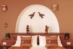 Izbowy interier w tradycyjnym hotelu w Chivay, Arequipa, Peru Fotografia Stock