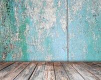 Izbowy wewnętrzny rocznik z drewnianą podłoga Obraz Stock