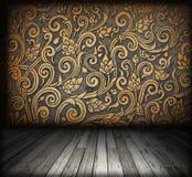 Izbowy wnętrze - drewniana rocznik podłoga Obrazy Royalty Free