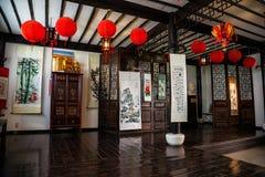 Izbowy wnętrze z chińczykiem Fotografia Stock