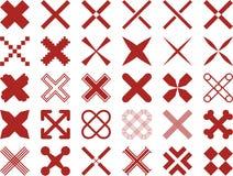 Комплект ized крестов Стоковые Изображения RF