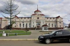 Izhevsk,火车站 免版税库存图片