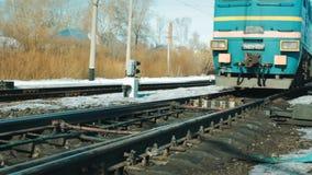 Izhevsk Ρωσία - Mart 2014: Τραίνο Χειμώνας φιλμ μικρού μήκους