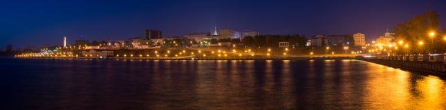 Izhevsk am Abend Lizenzfreie Stockbilder
